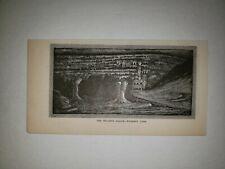 The Pillared Palace Wyandotte Cave Indiana 1879 Sm Sketch Print Rare!