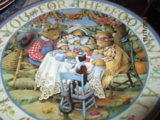Royal Doulton Collectable Teddy plate Thankful Teddies New