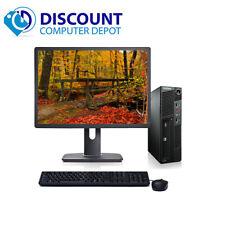 """Lenovo SFF Desktop Computer PC Core i5 PC Windows 10 Pro 8GB 500GB 19"""" LCD"""