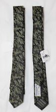 Neck Tie Boys Youth C2 By Calibrate Skinny Camouflage Army Silk NWT $33 FBB