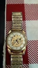 Fossil  sheleton Wrist Watch for Men gold tone a real conversation  peace.