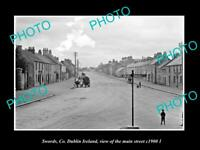 OLD LARGE HISTORIC PHOTO SWORDS Co DUBLIN IRELAND, VIEW OF THE MAIN ST c1900 2