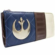 NEW OFFICIAL STAR WARS CAPTAIN HAN SOLO SCOUNDREL BLUE COIN & CARD CLUTCH PURSE