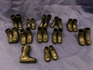 Palitoy Vintage Action Man Boots Shoes Lot Rare