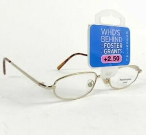 Foster Grant - Swift Gold -  Reading Glasses 6 Strengths. New