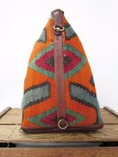 SAO Vintage Turkish Kilim Geometric Rug Print Shoulder Bag Sling Purse *NO CLASP