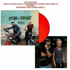 STING SHAGGY SIGNED Lithography 44/876 Red Vinyl  LIMITED EDITION 200ex