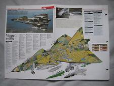 Cutaway Key Drawing of the SAAB 37 Viggen