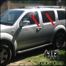4 Piezas De Viento Lluvia Sol desviadores Nissan Navara Protector De Humo D40 4 puertas 06-12