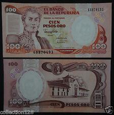 Colombia Paper Money 100 Pesos Oro 1990 UNC