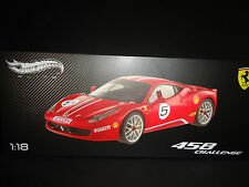Hot Wheels Elite Ferrari 458 Italia Challenge #5 Red 1/18 Limited Edition