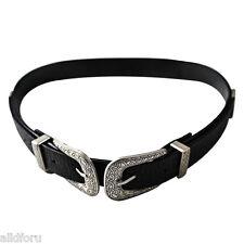 MODA MUJER vintage doble hebilla de metal cinturilla CINTURA AJUSTABLE