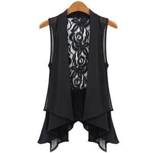 GIRLS COLLAR CHIFFON Blouse Top Cardigan Shrug Black White Lace Age 11 12 13 14