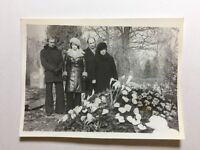 Vintage Real Photograph - #P - Fresh Grave Burials With Flowers & Family 1 of 2