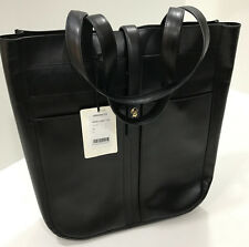 Paul Smith Women's Tote Bag Handcrafted Black Calf Leather Tote Fishing Bag