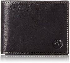Timberland Men's Hudson Commuter Genuine Leather Credit Card Bifold Wallet Black