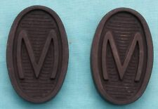 pair M Brake Clutch Pedal Pads Rubber Morris Minor 8 hp 10 Oxford MO free post