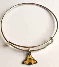 Silver Pluto Charm Bracelet Mickey Mouse Enamel Plated Cartoon Disney Dog