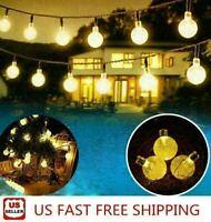 6.5M 30LED Solar String Ball Lights Outdoor Garden Yard Decor Lamp Waterproof EB