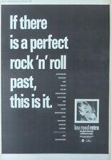 LOU REED : Retro -Poster Size NEWSPAPER ADVERT- 1989 29cm X 39cm