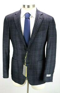 NWT $1495 CANALI 1934 Silk Wool Kei Jacket Coat 46 R fits 44 L Black Woven 56 EU