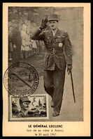 FRANCE MK 1948 GENERAL LECLERC MILITARY WAR CARTE MAXIMUM CARD MC CM m493
