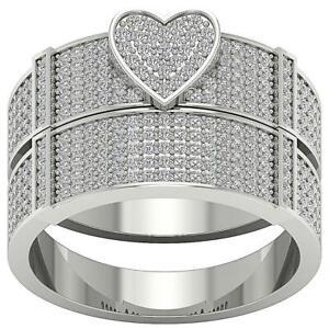 Bridal Engagement SI1 G 1.25 Ct Natural Diamond Ring 14K Gold Prong set 13.60MM