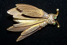 Rare Vintage Pauline Rader Insect tremble Figural brooch with Baroque pearl