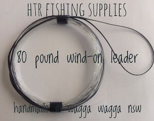 HTR Fishing Supplies 80 pound Wind-On Leader