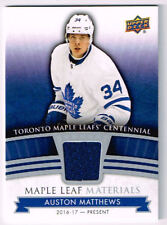 17-18 Toronto Maple Leafs Centennial MATERIALS Auston MATTHEWS #ML-AM