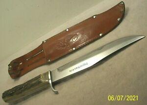 1950's~GUTTMANN CUTLERY~GERMANY~ORIGINAL BOWIE HUNTING & FIGHTING KNIFE w/SHEATH