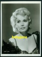 ZSA ZSA GABOR VINTAGE 7X10 PHOTO 1957 PORTRAIT IN BLACK LACE