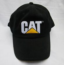 Caterpillar Black Trucker Hat Licensed White CAT Logo 100% Cotton Brand NEW