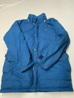 Mens THE NORTH FACE Blue Vintage Goose Down Parka Jacket Sz M USA MADE