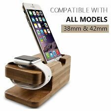 2in1 Charging Dock Station Charger Holder Stand For Apple Watch iPhone 7/7 Plus
