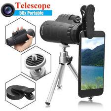 50X60 Zoom Monocular Telescopio Lente Cámara +Universal Clip Para Teléfono Móvil