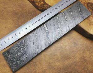 Original Damascus Steel Bar Billet for Crafts Tools Knife Making 25x5cm TW-ST