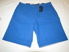Men's Tommy Hilfiger 35 shorts 78A6603 622 Blue flat front cotton walk casual TH