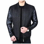 New Men's Leather Jacket Slim fit Biker Motorcycle jacket