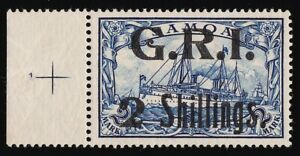 "SAMOA 1914 ""GRI 2 Shilling"" on Yacht 2Mk MNH ** +CERTIFICATES ONLY 126 PRINTED"