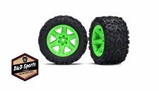 Traxxas 6773G Tires and Wheels - Assembled - Glued (2.8) Rxt 4x4 Green Wheels