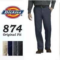 Dickies 874 Dark Navy Men's Work Uniform Trousers Original Fit Dress Pants