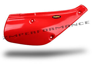 NEW HONDA XR 100 88 - 00 FIGHTING RED PLASTIC MOTORCYCLE SIDE PANELS GUARD