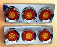 2x Stainless steel 24V LED rear lights trailer truck lorry for Scania DAF MAN