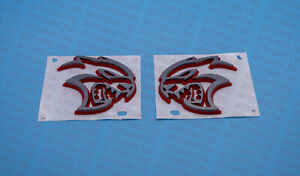 2020-2021 DODGE CHARGER Right & Left SRT Hellcat Fender Badge NEW Grey with Red