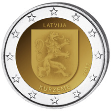Latvia: Commemorative 2 Euro coin: Kurzeme, Coat of Arms 2017, UNC**