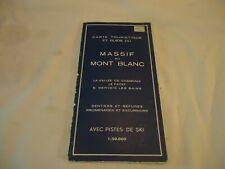 Carte touristique et guide du massif du Mont Blanc sentiers et refuges