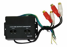 Hi Low High Rca Car Line 4 Channel Converter Output Adapter