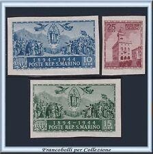 1945 San Marino Palazzo Governo Carducci n 278D/278F NON Dentel Nuovi Integri **
