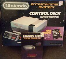Original Nintendo NES Control Deck - Box w/ Manual Only - 1987 System Console